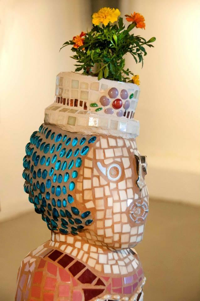 """""""Ethel"""" Mixed Media Mosaic Sculpture"""