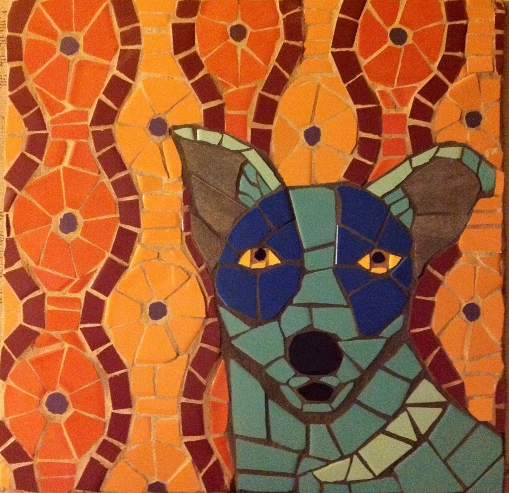 """One of Sherry Tobin's pieces included in """"1,000 Dog Portraits"""""""