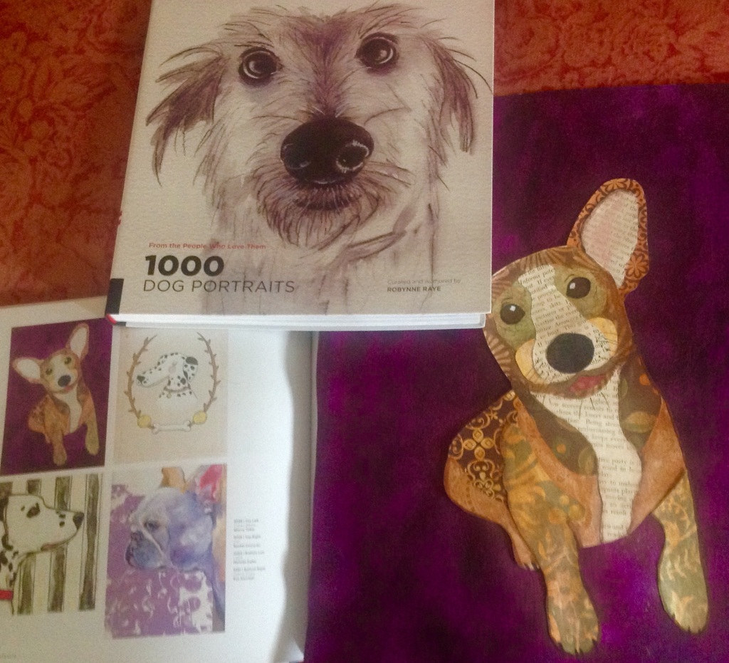 """One of Sherry Tobin's pieces included in, """"1,000 Dog Portraits"""""""