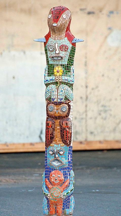 """Balance"" Mixed Media Mosaic Scupture"