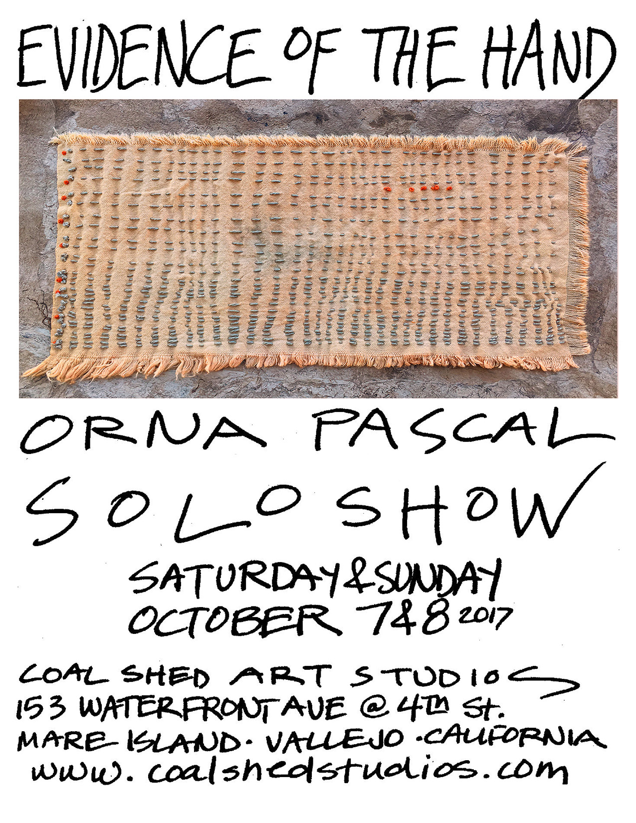 Evidence of the Hand; Orna Pascal Solo Show