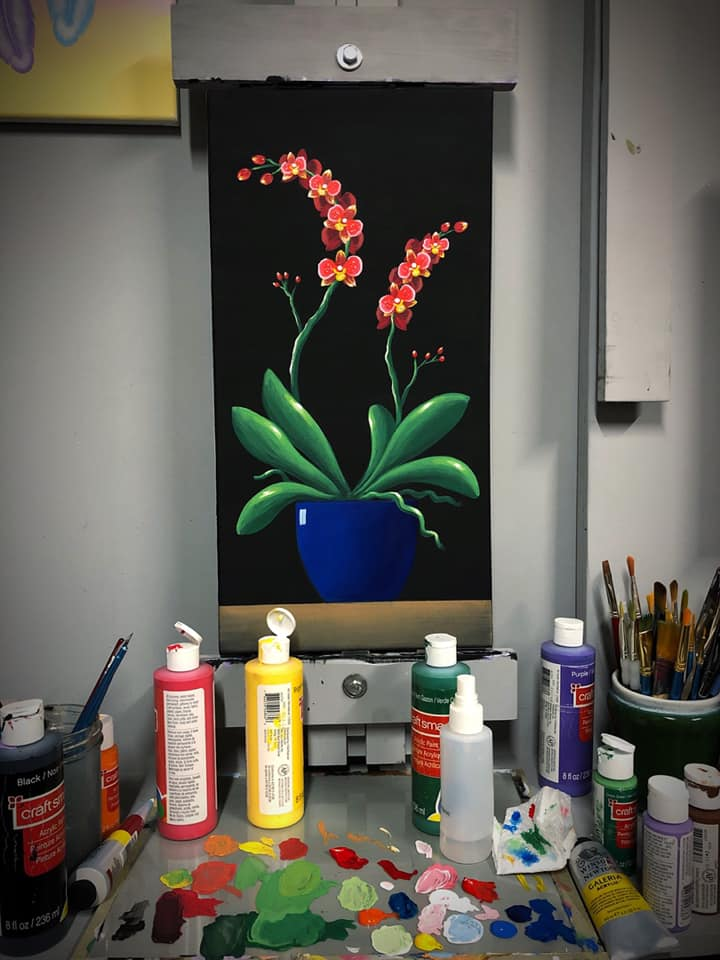 Orchid Painting Class
