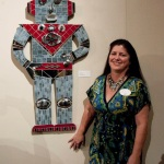Sherry Tobin with Robby the Robot mixed Media Mosaic