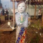 """Andrea"" Mixed Media Mosaic Sculpture at St. Vinnie's Garden, Vallejo, CA"